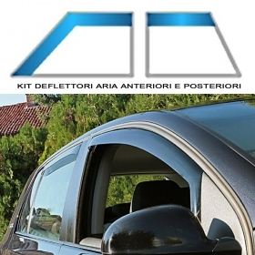 ANTIVENTO DEFLETTORE ANT.E POST.VOLKSWAGEN GOLF 5P 2003 AL 2008 COLORE FUME'